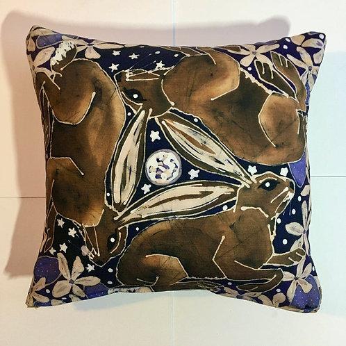 Three Hares Cushion