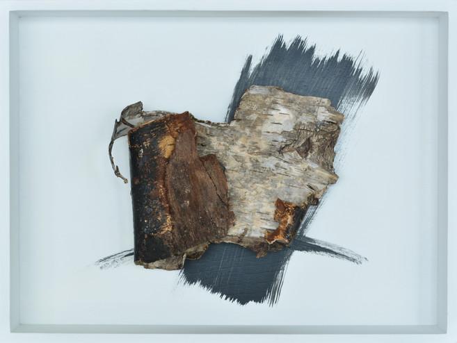 Michael Lerche, o.T. 057, Acryl auf Rind