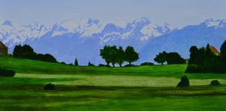 Andreas Scholz, Landschaft mit Bergen