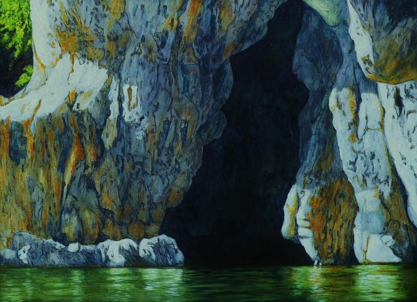 78x108cm Oel auf Leinwand (Grotte im Pon