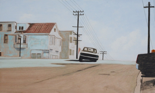 Andreas Scholz, Straße mit Auto