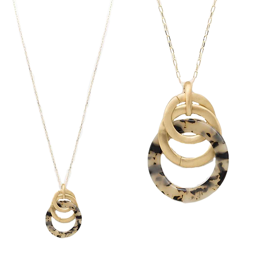 Tortoise Loop Necklace