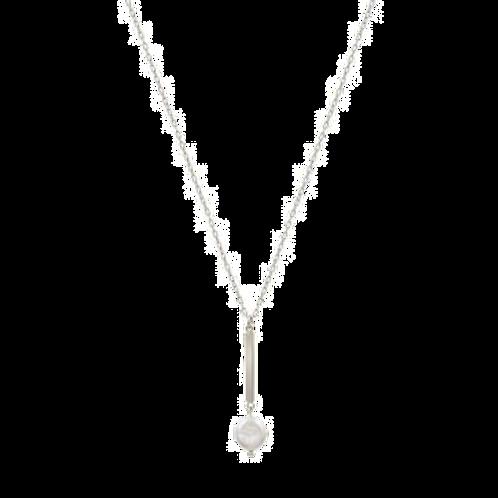 Pearl Bar Drop Necklace