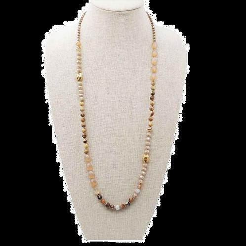 Semi Precious Amber Necklace