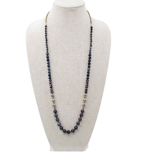 Knotted Navy Necklace