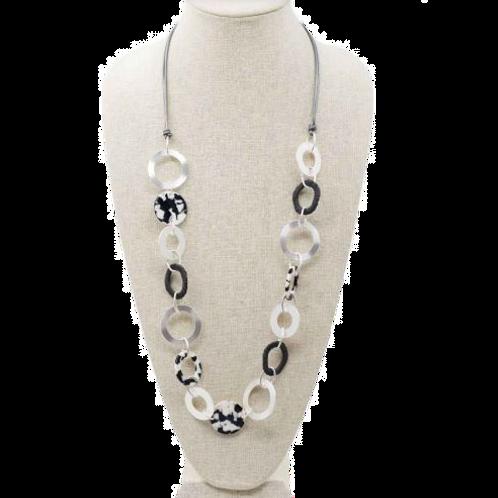Hematite Long Necklace