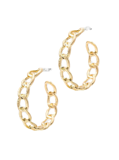 Gold Chain Hoops