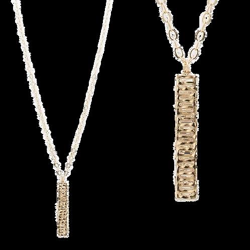 Hammered Ladder Necklace