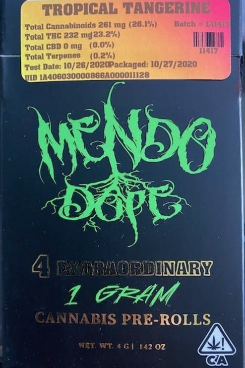 Tropical Tangerine by Mendo Dope