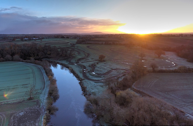 BES Team share the dawn at Montford Bridge