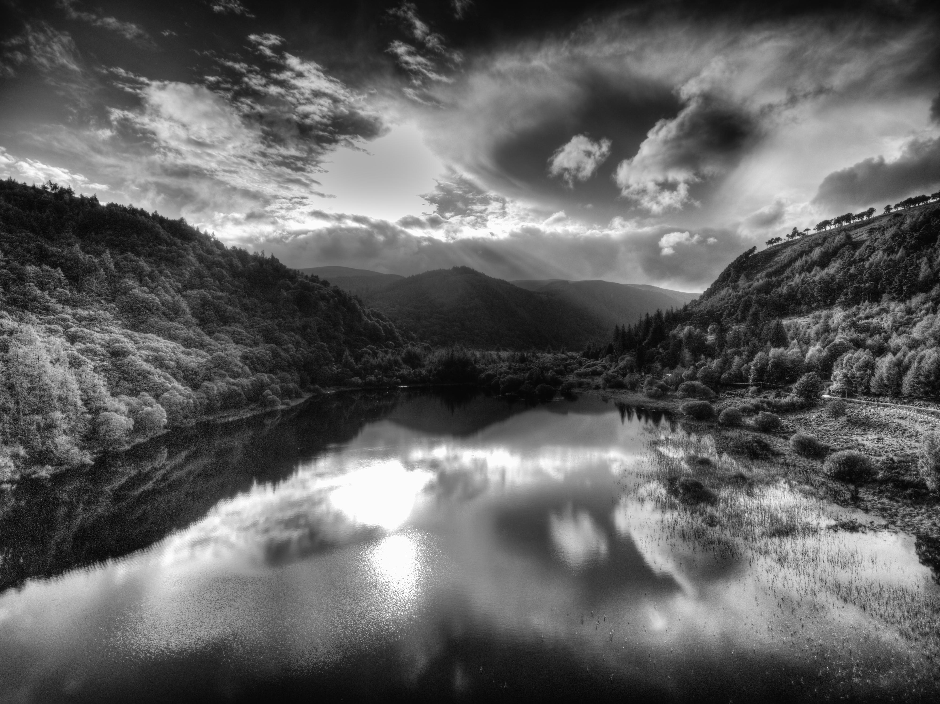 Lower Glendalough FD HDR Mono