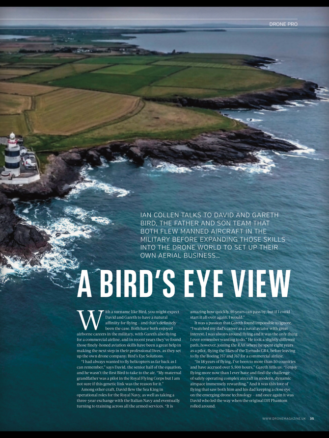 Bird's Eye Solutions is profiled in Drone Magazine