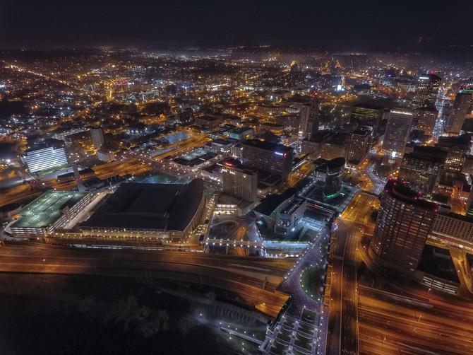 Hartford CT By Night