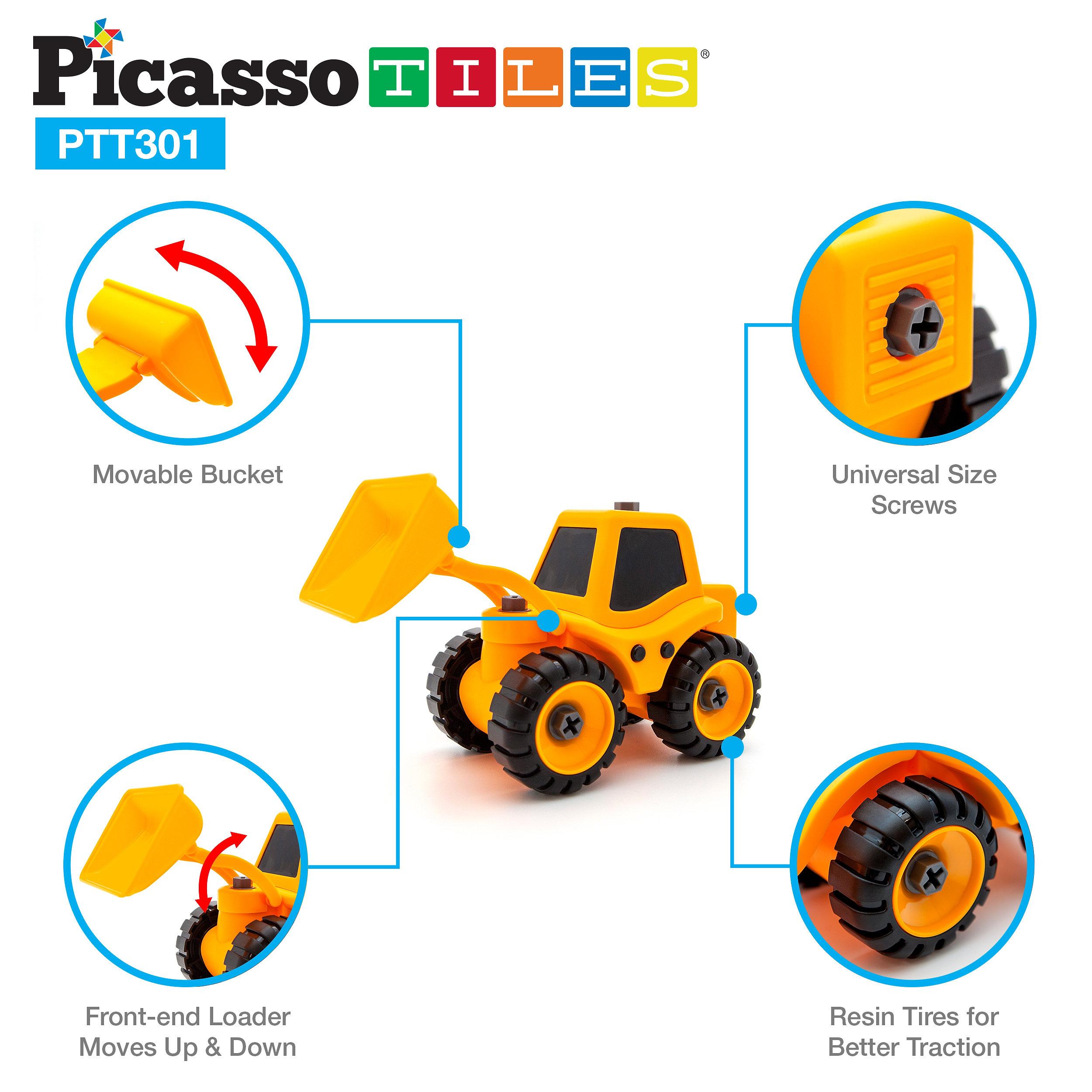 picassotiles picassotiles ptt301 educational constructible