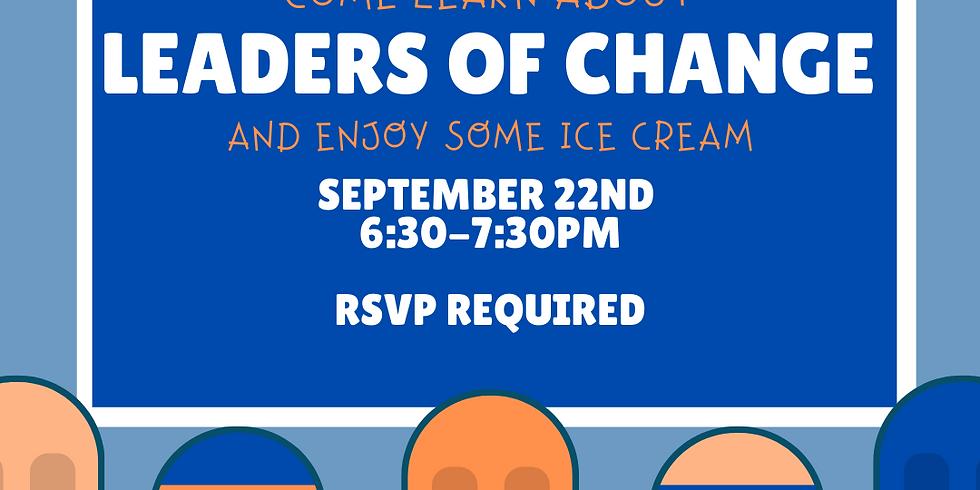 Leaders of Change Freshman Social (6:30-7:30pm)