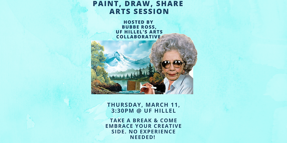 Paint, Draw, Share Arts Session (Thurs., 3/11, 3:30pm)
