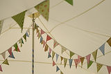 Bunting in the marquee