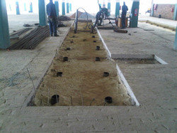 Open trench piling