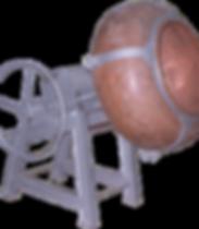 Copper revolving coating pan