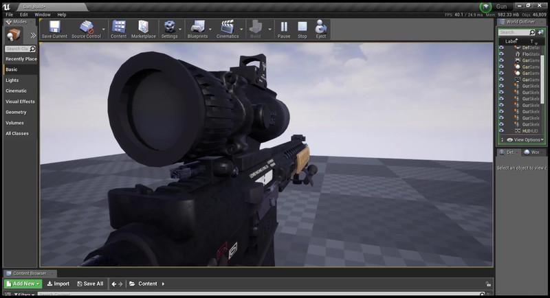 Animation shoulder perspective