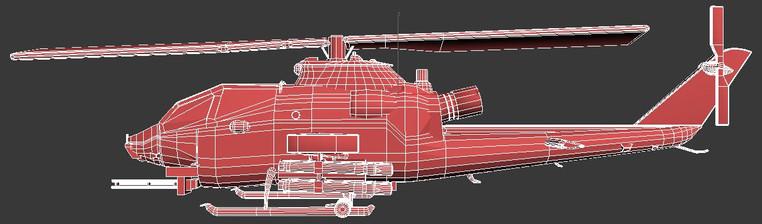 AH-1F Cobra: 3ds Max 2019