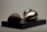 abstract bronze sculpture of organic forms