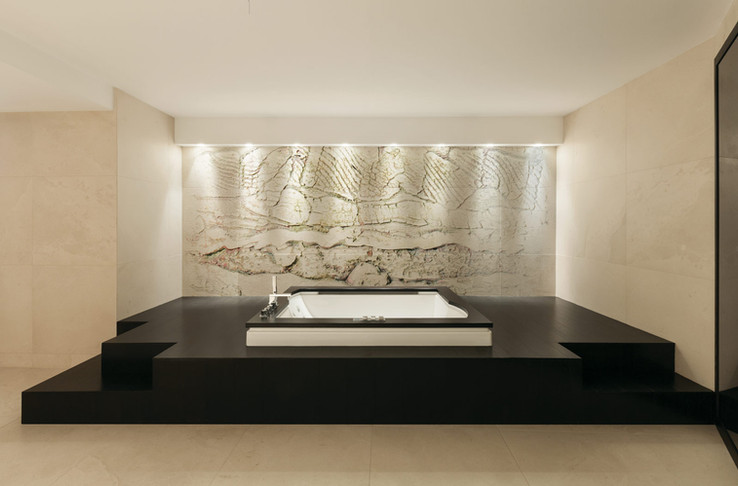 Peter Hayes feature wall art for spa