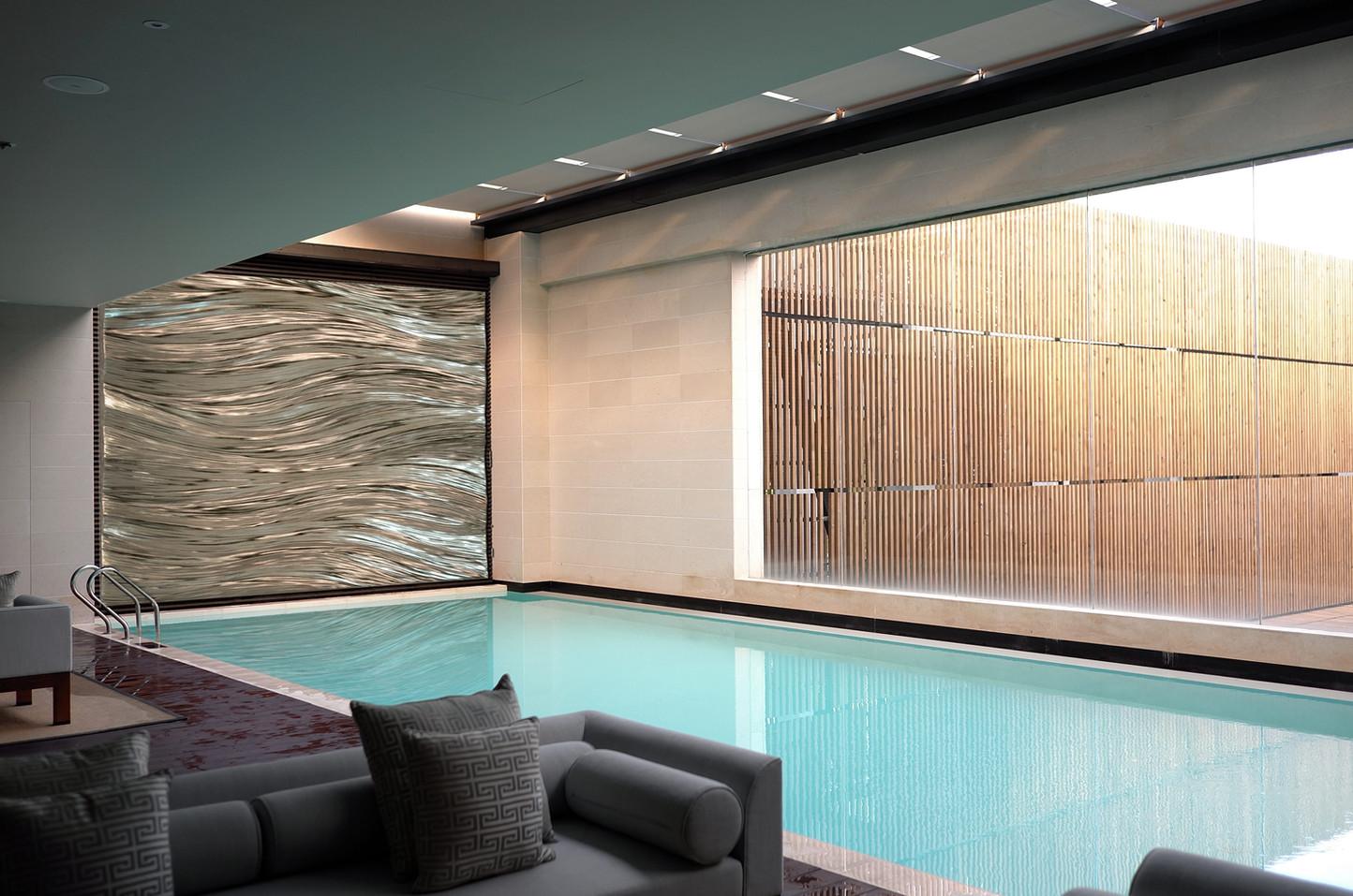 Simon Allen feature wall for spa
