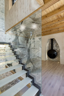 Michelle Keeling glass feature wall art for interiors
