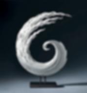 Ocean inspired glass art sculpture for interiors