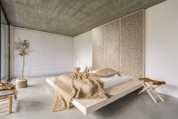 Benoit Averly carved wood feature wall