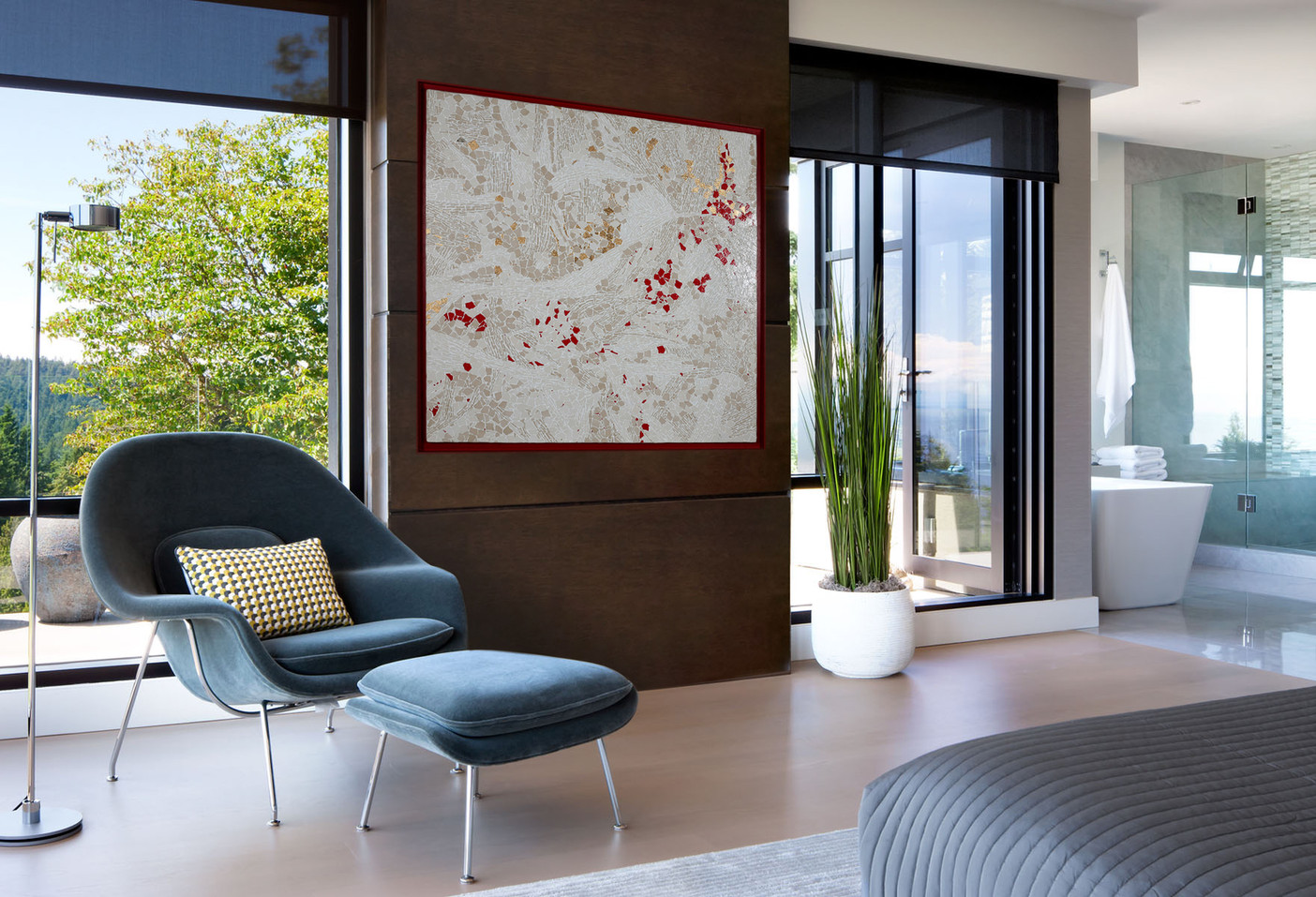 Chambre Vue extérieur Rouge&Or_Bedroom