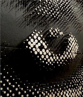 contemporary eye sculpture urban wall art