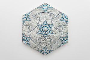 islamic inspired wall art sculpture geometric pattern