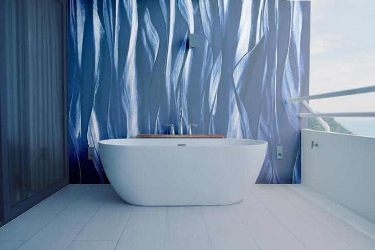 Christoph Schrein art feature wall in bathroom