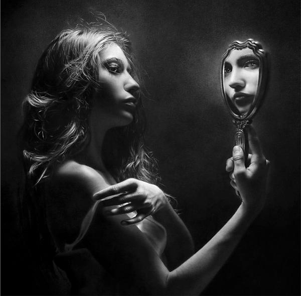photorealistic portrait art of woman
