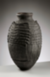 Tribal inspired contemporary african vase