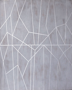winter inspired geometric abstract wall art painting
