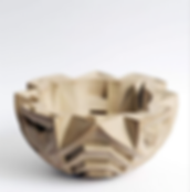 contemporary bowl sculpture carved wood