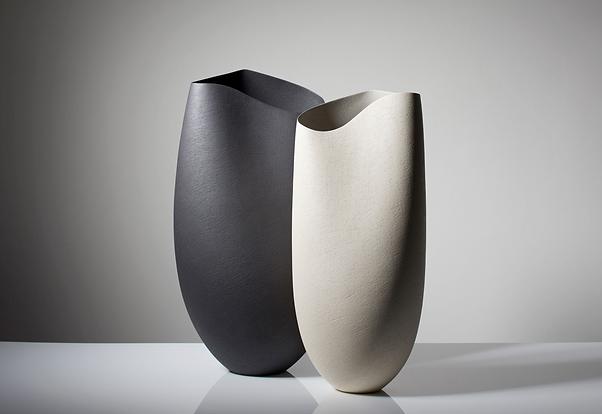 contemporary art white black luxury vases for interiors