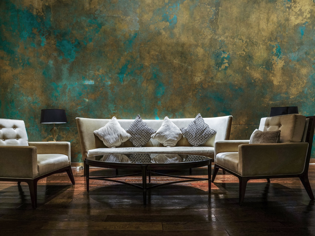 Michelle Gagliano feature wall painting for interiors