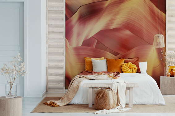 Christoph Schrein art feature wall in bedroom