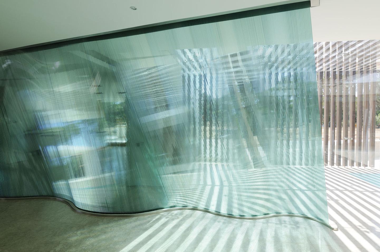 Danny Lane feature wall glass art
