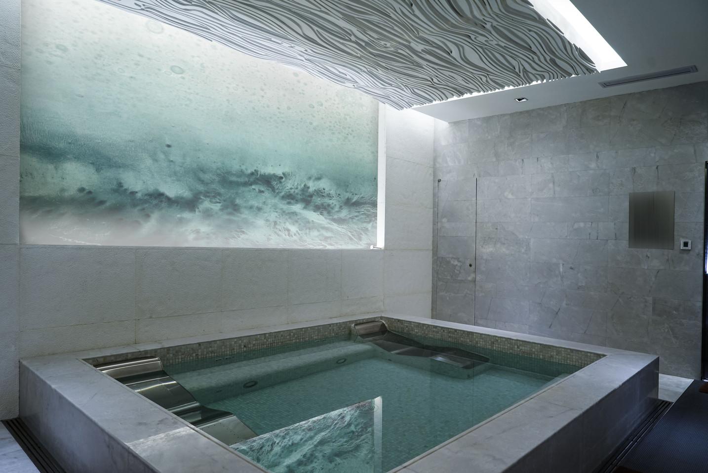 Adam Arbeid custom wall art for spa