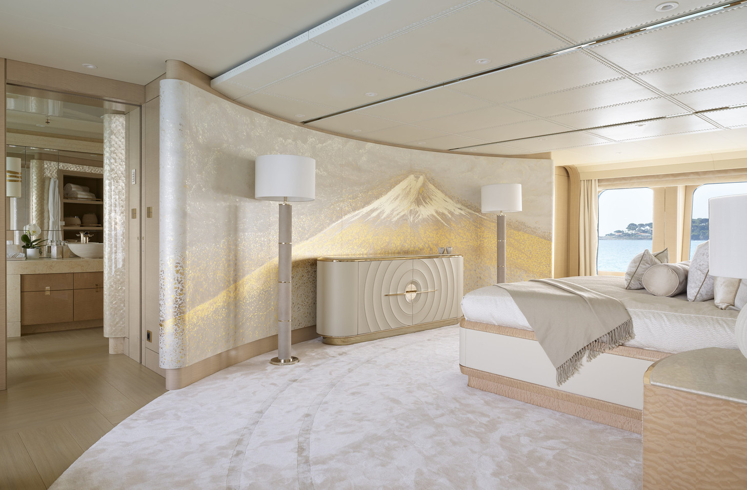 Janine Lambers feature wall art for yachts