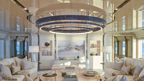 Onboard art collection for superyacht Aurora Borealis