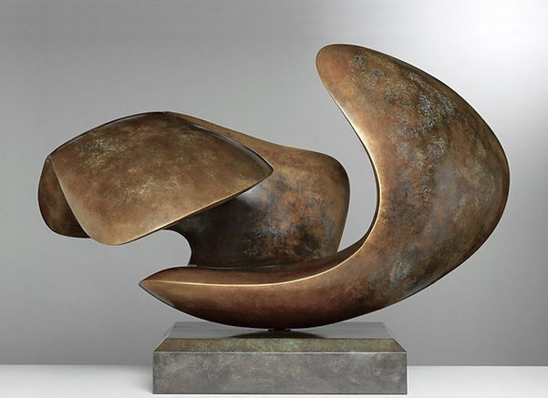 abstract cast bronze sculpture for interior design