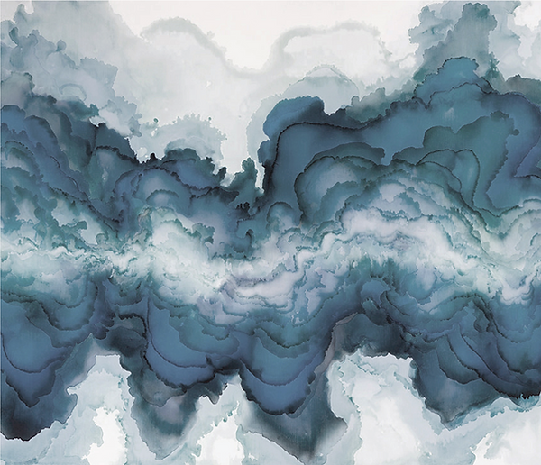 Ocean inspired wall art mural