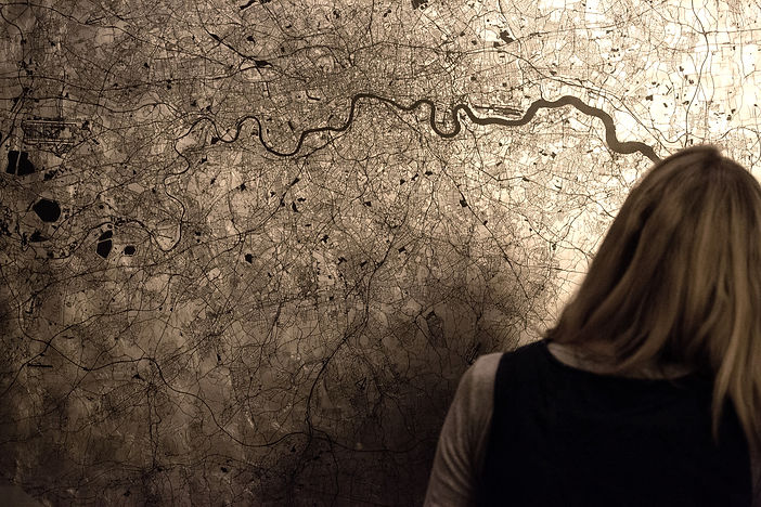 Mappa Mundi Greater London - Black on Pa
