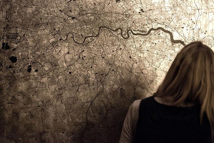 Mappa Mundi Greater London - Black on Pa